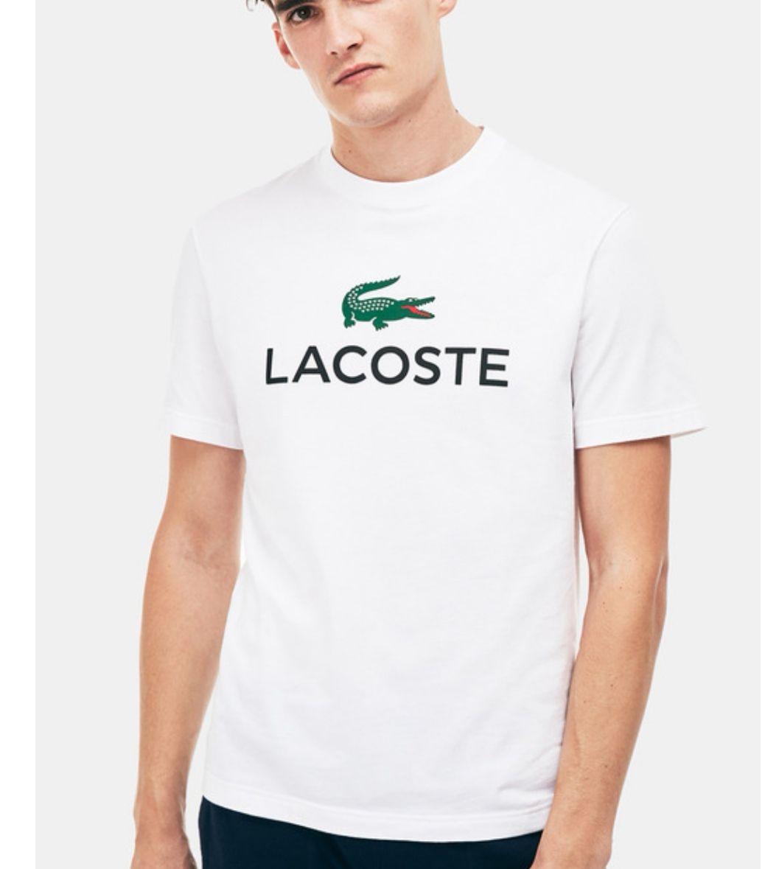 Camiseta de hombre Lacoste blanca de manga corta