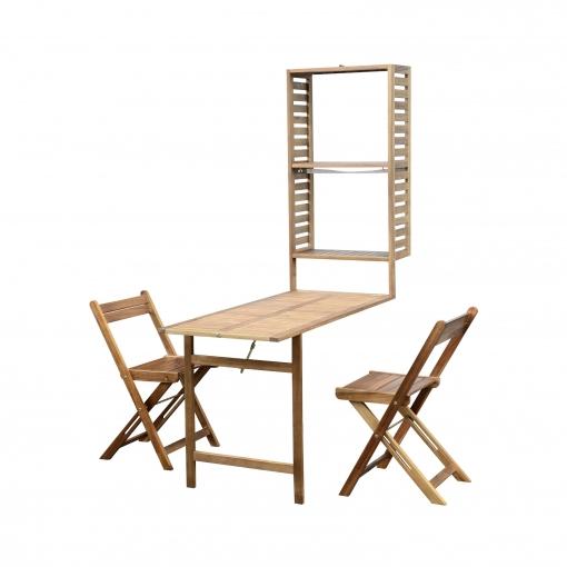 Set de balcón de 2 sillas encastrable
