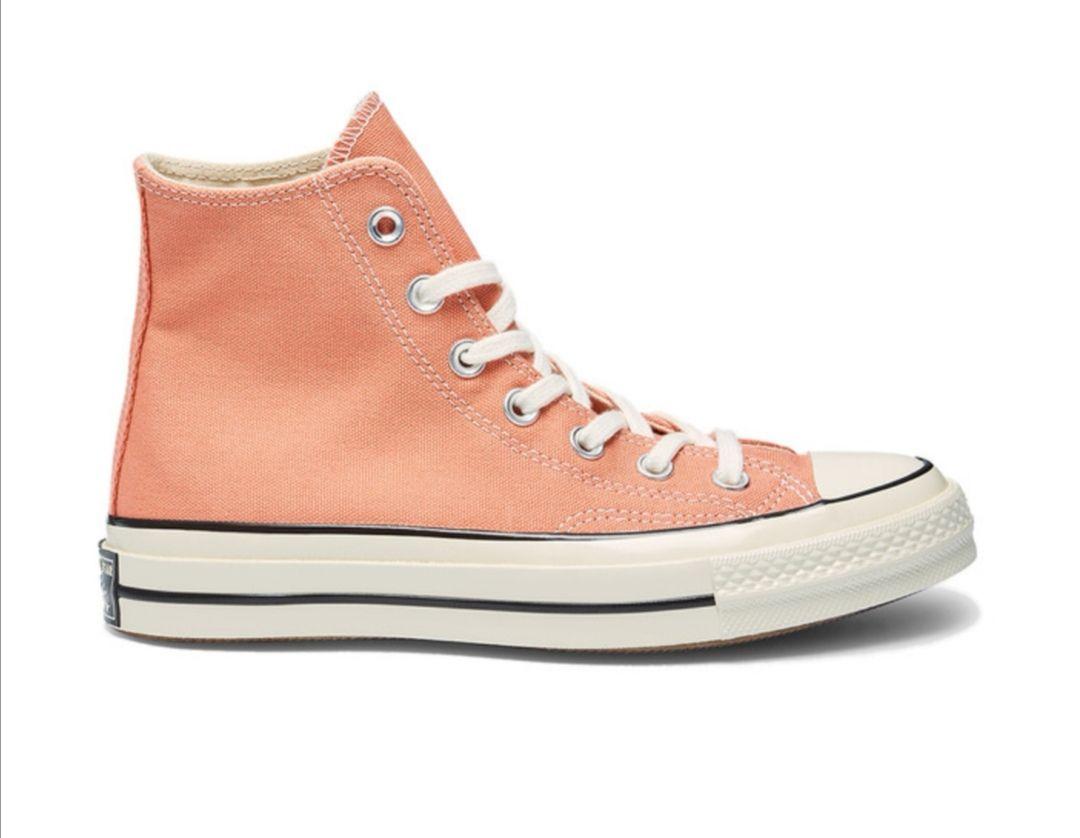 Zapatillas de lona de mujer Converse Chuck Taylor 70's de color naranja