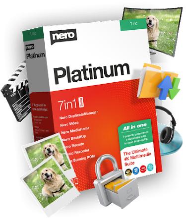 Nero Platinum 2020 + REGALO adaptador Nero Bluetooth 4.0 audio AUX