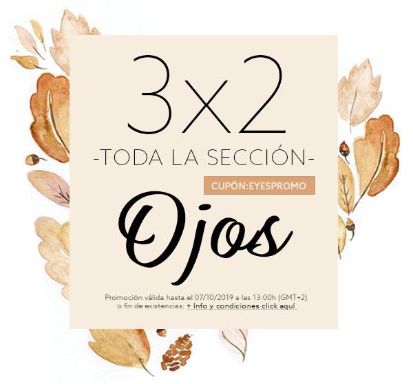 3x2 en TODA LA SECCIÓN de OJOS