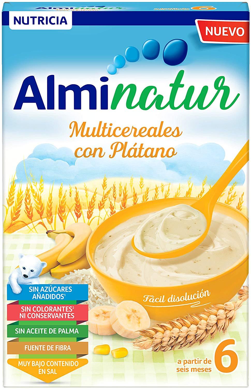 Alminatur papilla de multicereales con plátano a partir de 6 meses 250 gr Amazon pantry