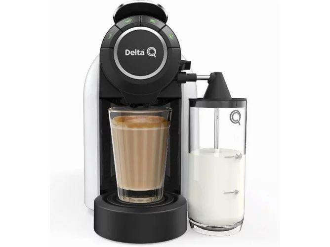 Cafetera de Cápsulas DELTA Q Milk Qool + 80 Cápsulas (19 bar - Blanco)