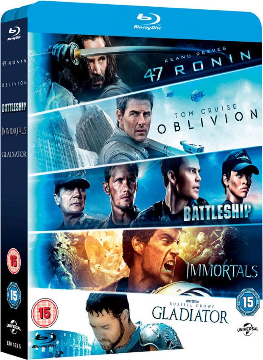 Ronin/Oblivion/Battleship/Immortals/Gladiator