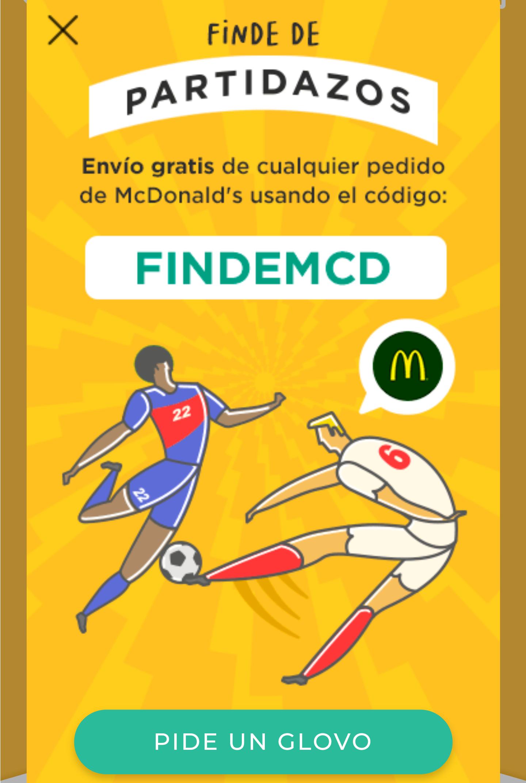 MCDONALD'S - Envío gratis con Glovo