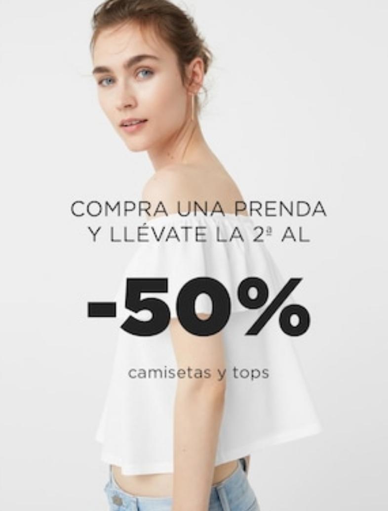MANGO OUTLET: 50% DTO. en la segunda camiseta/top (Mujer)