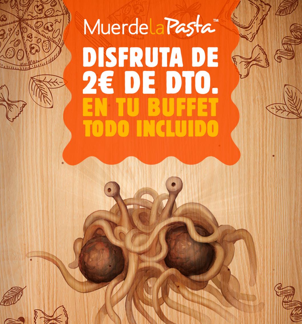 2€ de descuento en Menú Muerde la Pasta y otras promos: Niño gratis los domingos y acompañante al 50%