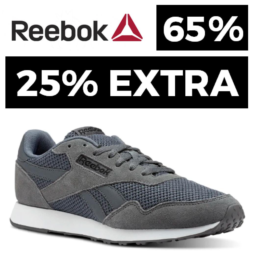 Reebok: 65% + 25% EXTRA
