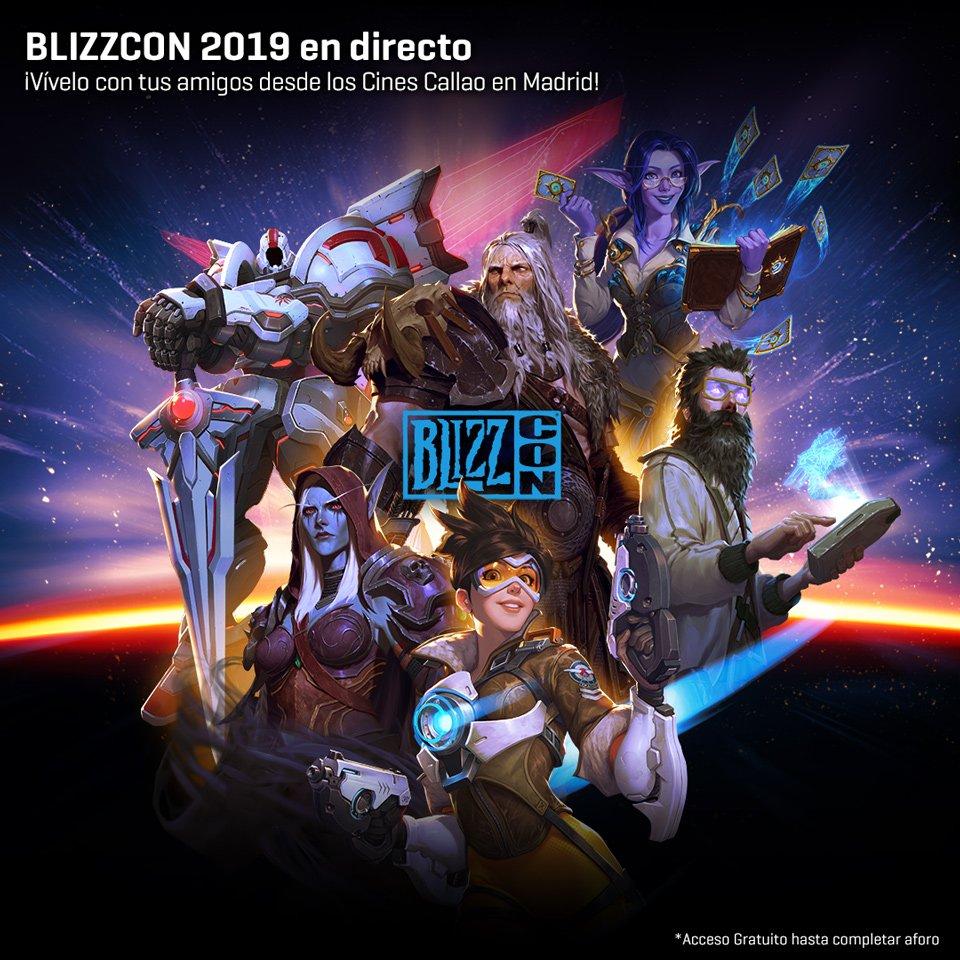 BlizzCon 2019 entrada GRATUITA+regalos Cines Callao Madrid