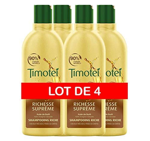 4 Envases de acondicionador Timotei Riqueza Suprema (4x300ml) por sólo 8,84€.