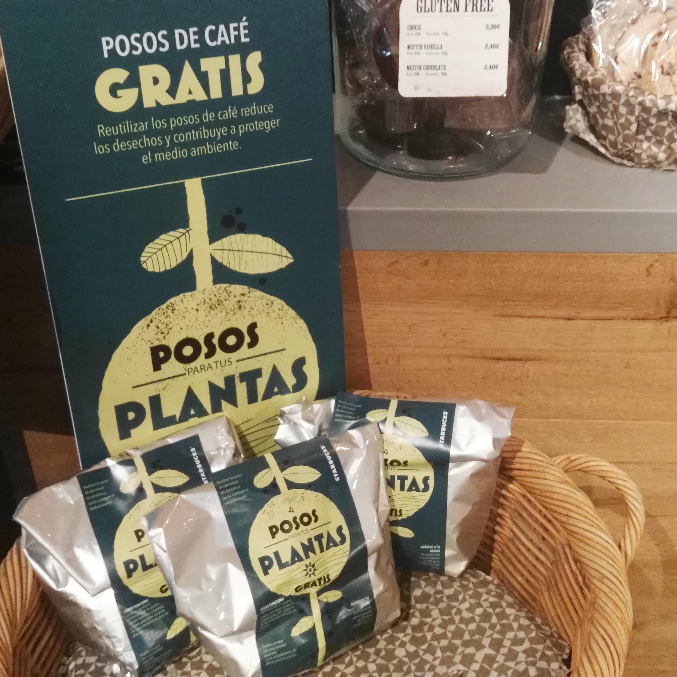 [Starbucks] Posos de café para jardinería GRATIS