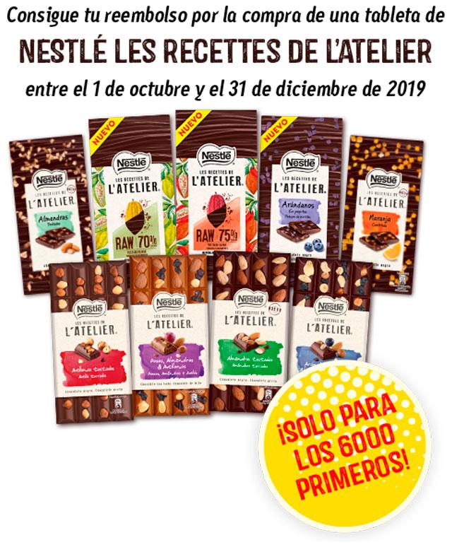 Nuevo prueba gratis de chocolates Nestlé