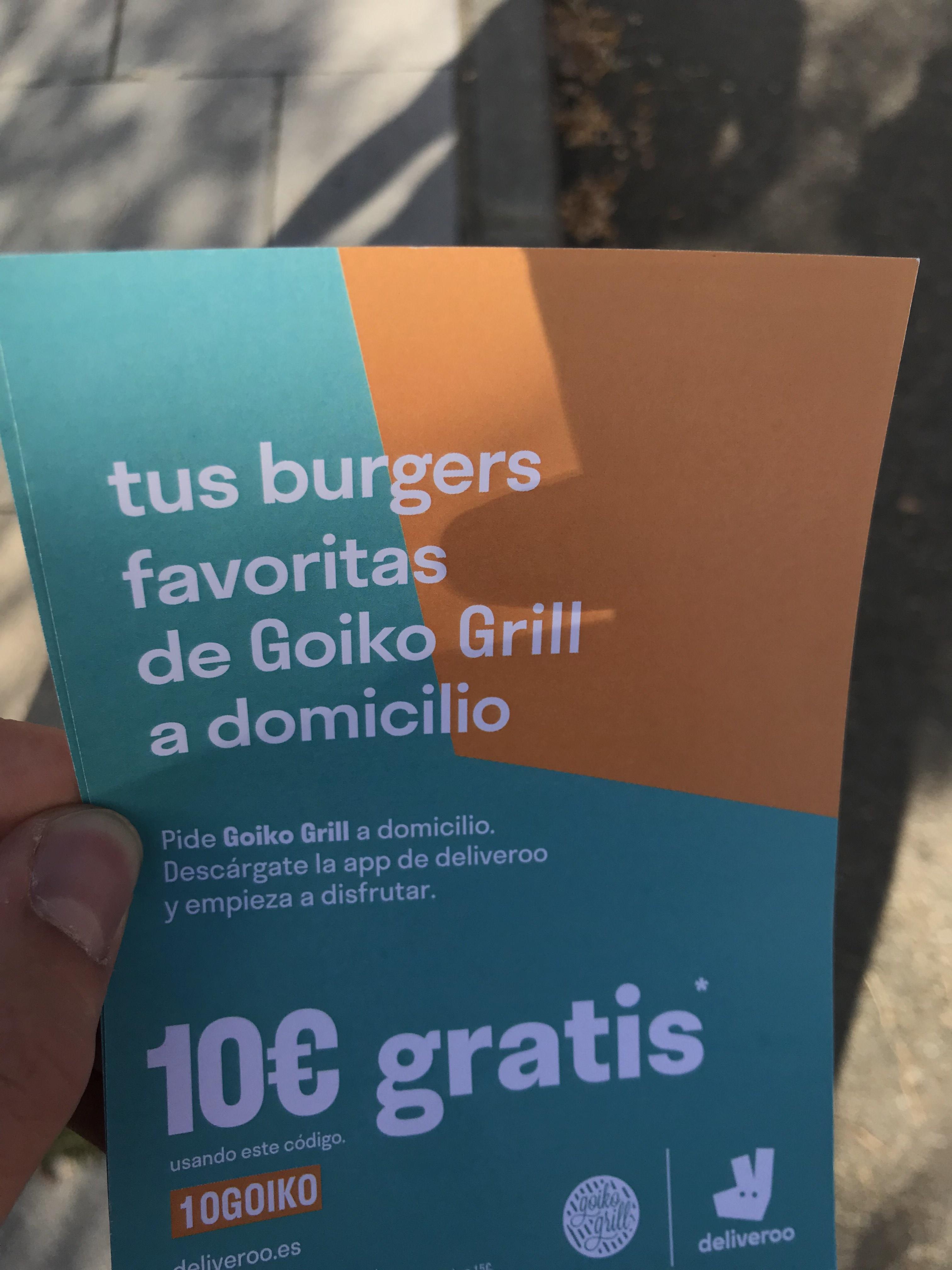 10€ gratis en Deliveroo