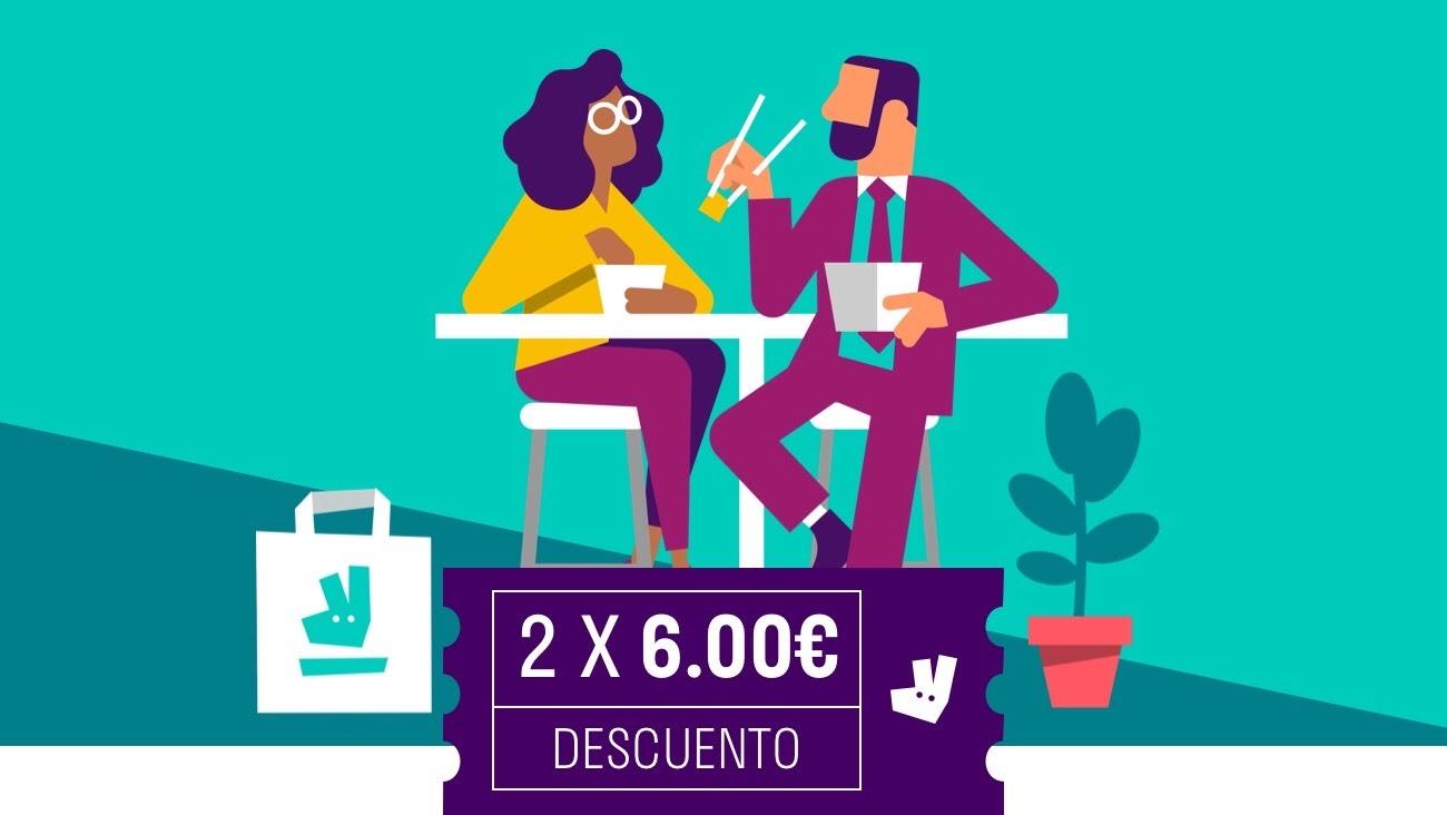 12€ de crédito en Deliveroo