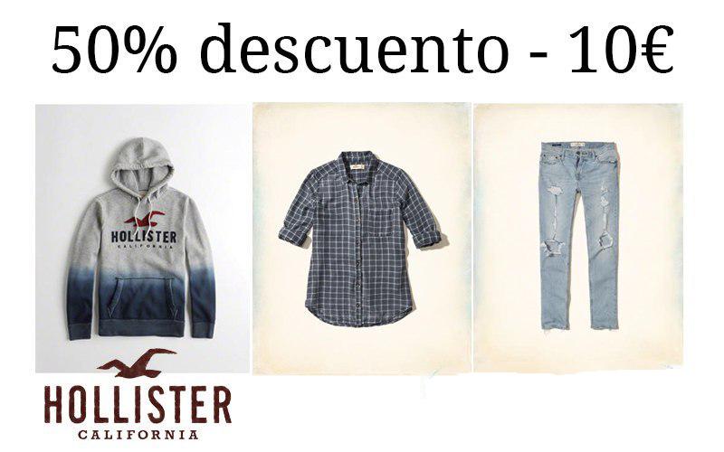 Hollister - Hasta 50% de descuento - 10€ de descuento y envío gratis