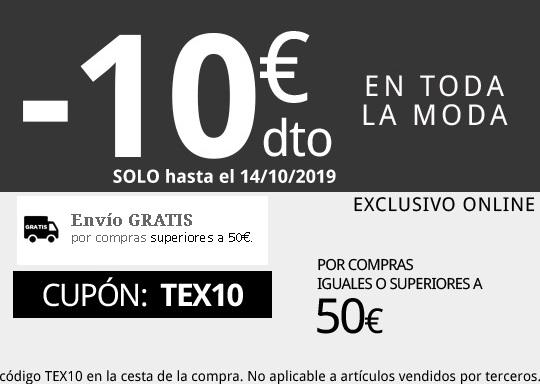 10 Euros descuento+envío GRATIS gastando 50 Todo Moda Web Carrefour