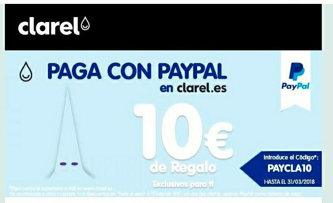 CLAREL + PAYPAL *10€ descuento *