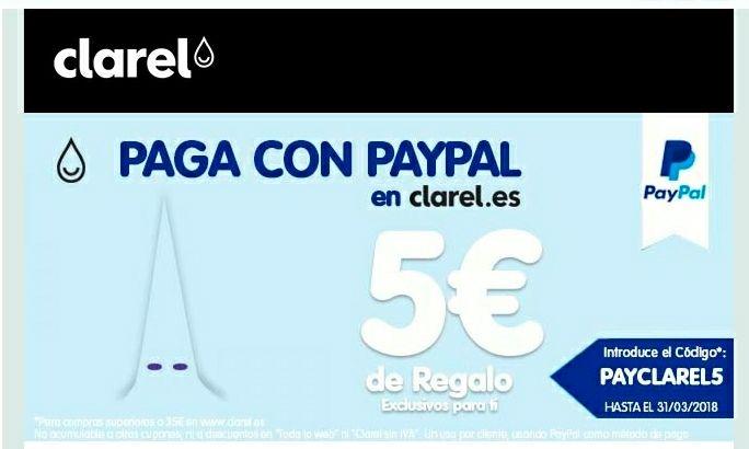 PAYPAL + CLAREL .....DESCUENTO 5€