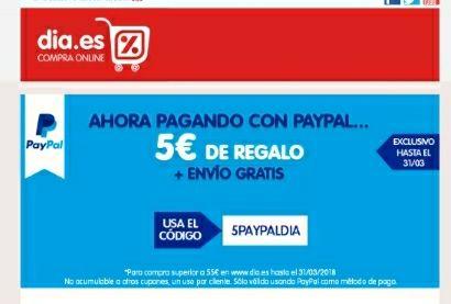 PAYPAL  +   DÍA   * 5€ DESCUENTO*