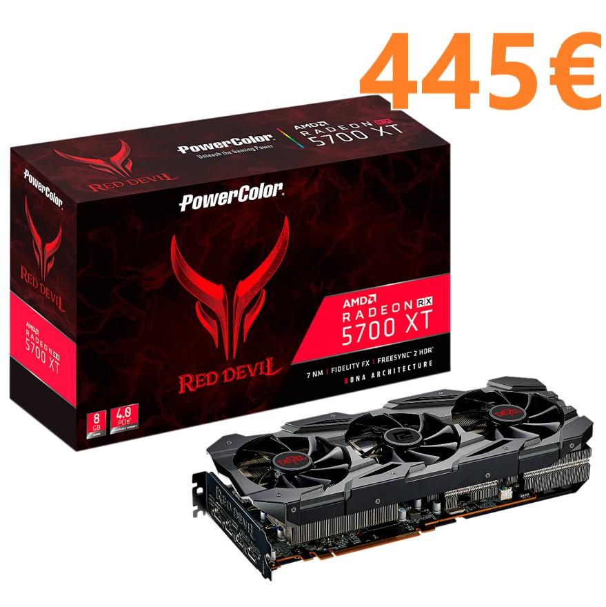 PowerColor Radeon RX 5700 XT Red Devil 8GB GDDR6 por 445€ (+ Juegos)