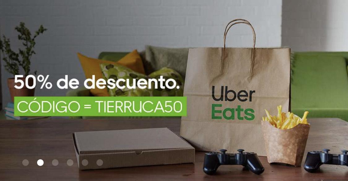 50% en 5 pedidos de Uber Eats (Santander)