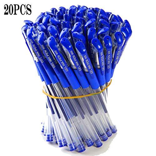 Pack de 20 bolígrafos de gel de 0,5mm en color azul, negro o rojo por sólo 3,00€