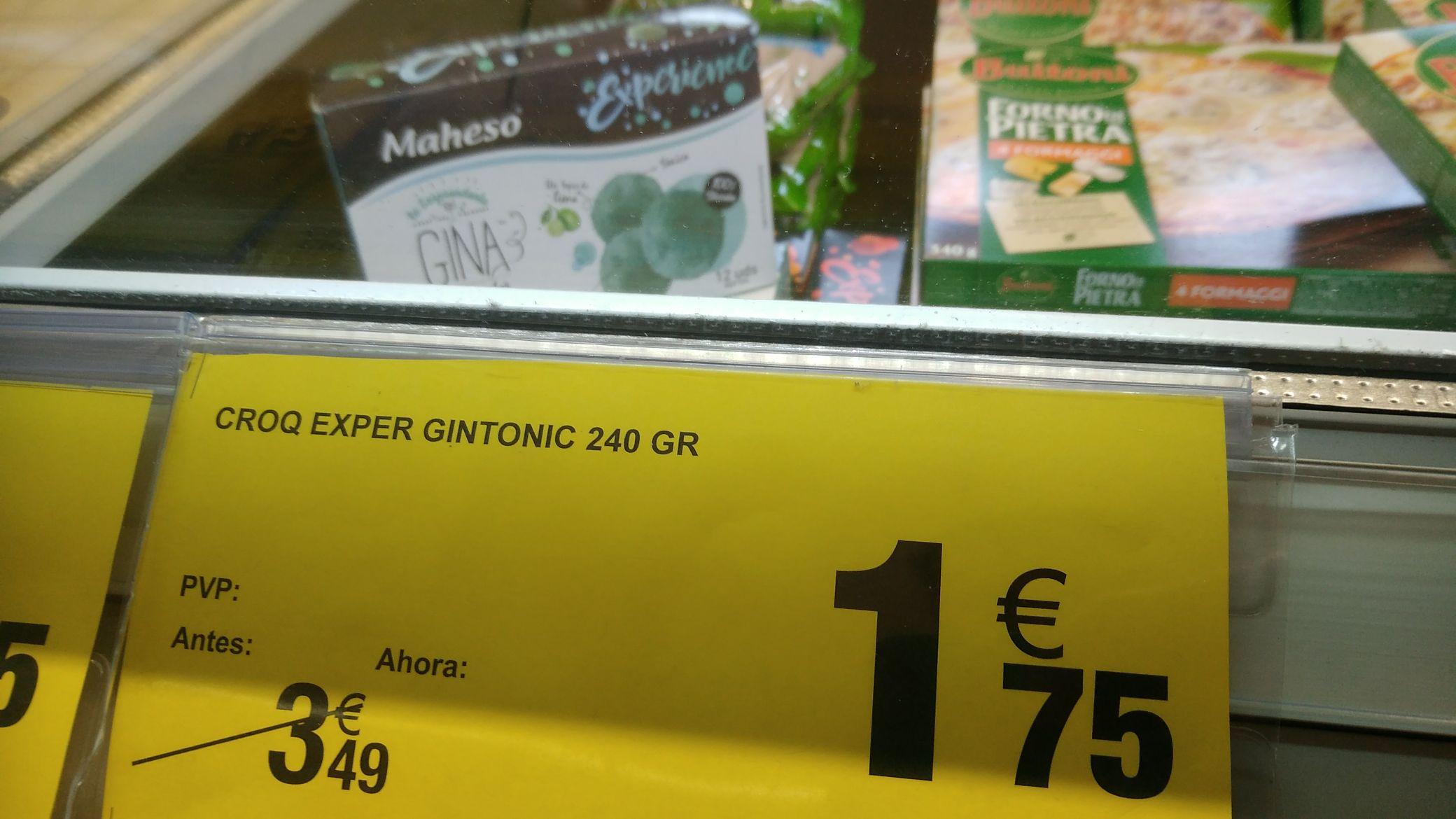 croquetas de GIN TONIC !!!!!! Carrefour vigo