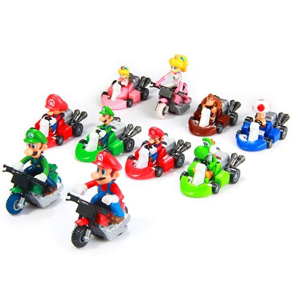 Super Mario Bros Kart figuritas 10pcs