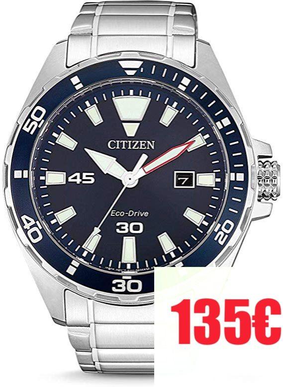 CITIZEN Reloj Analógico para Hombre de Cuarzo con Correa en Acero Inoxidable BM7450-81L