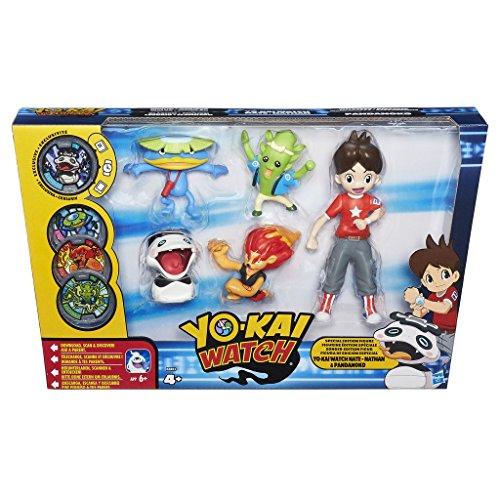 Yo-kai Watch - Pack de 5 figuras Nate y los Yo-Kai