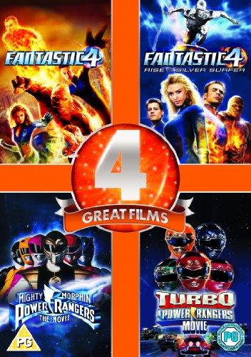DVD: PACK 4 PELÍCULAS - Power Rangers y Los 4 fantásticos