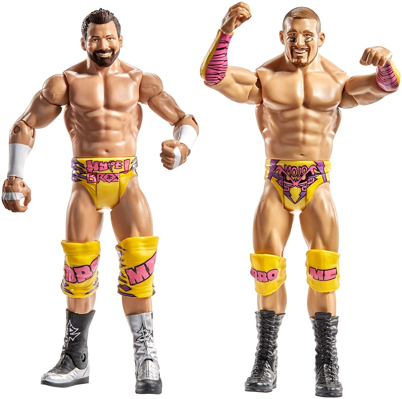 WWE- Pack de 2 Figuras básicas con Accesorio Mojo