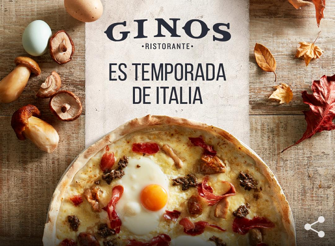 Gino's te invita a una pizza (Pedido minimo 15€)