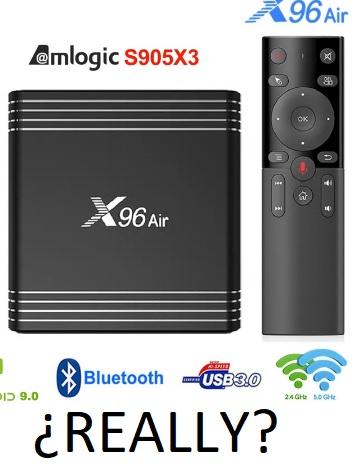 PREVENTA TV Box potente con nuevo AMLogic S905x3 y 4GB RAM/64 GB eMMC