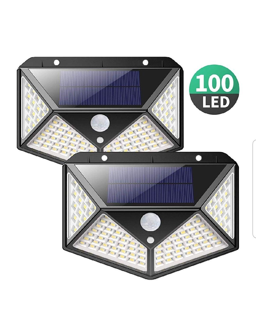 Luz solar exterior 100 led