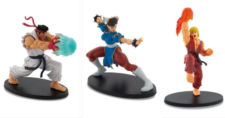 3 figuras Street Fighter