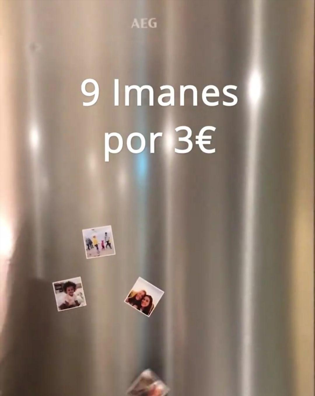 9 imanes personalizados 3€ (gastos de envío aparte) con Hofmann