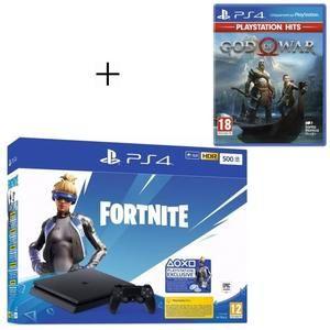 PS4 Slim + contenido Fortnite + God of War PlayStation Hits