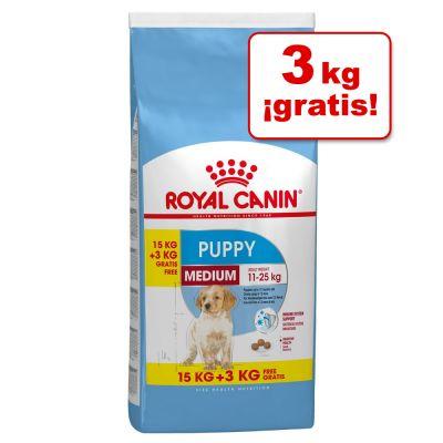 Pienso Royal Canin 18kg - Medium Puppy (Medium Junior) (15 + 3 kg gratis)