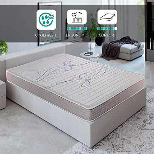 ROYAL SLEEP Colchón viscoelástico 90x200 de máxima Calidad, Confort y firmeza Alta, Altura 14cm. Colchones Xfresh
