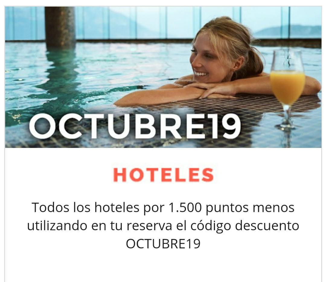 1500 puntos Travel Club menos al reservar tu hotel