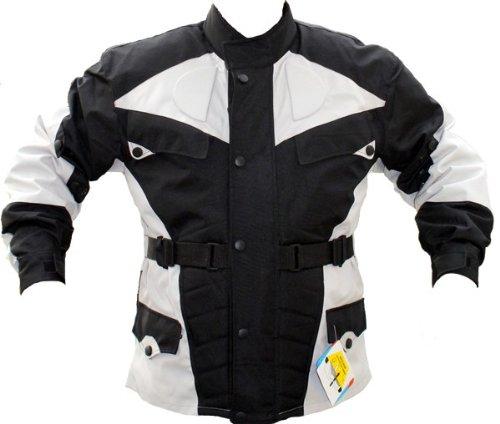 German Wear GW302J - Chaqueta de moto, negro/gris claro, XL