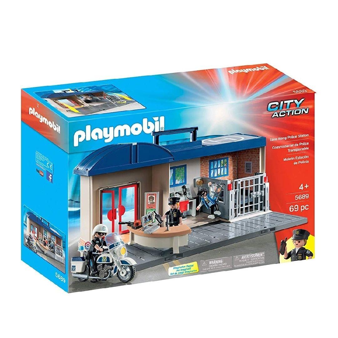 Playmobil- Comisaría Maletín Juguete,