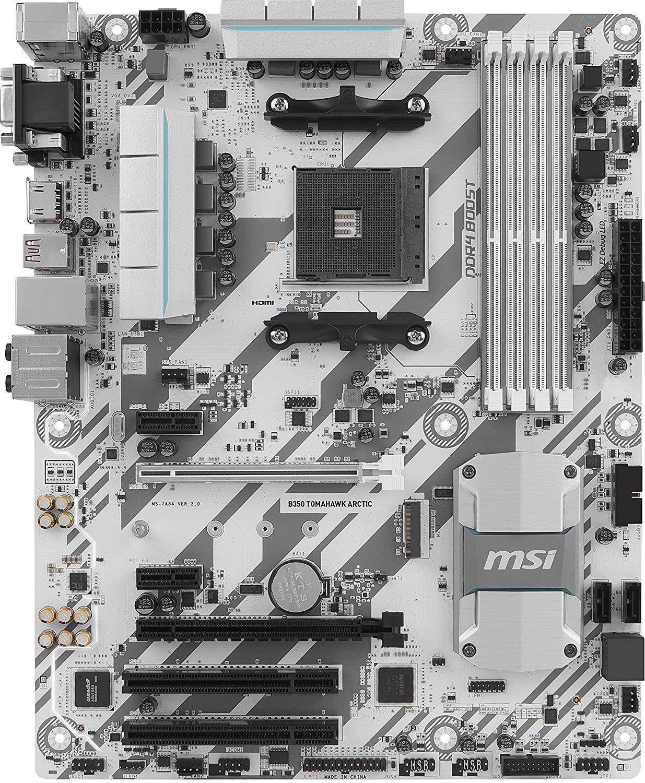 MSI B350 TOMAHAWK ARCTIC - Placa Base Arsenal