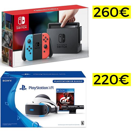 Pack completo Playstation VR y Nintendo Switch a precio mínimo!