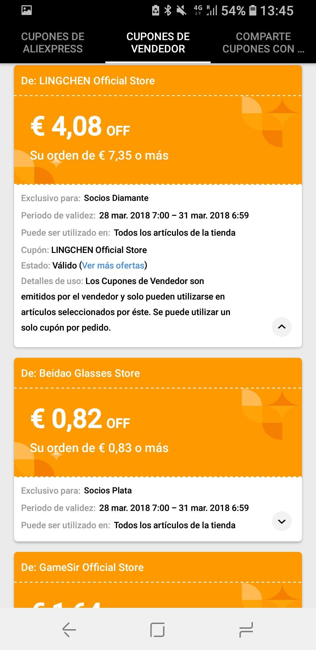 Cupon Vendedor -4€ Aliexpress socios diamante