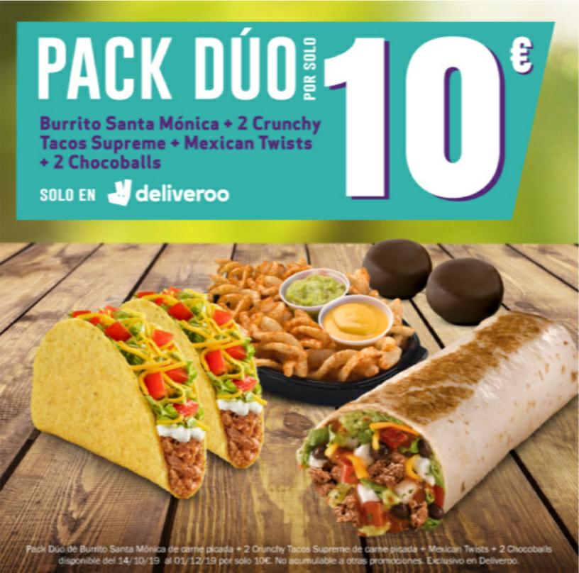 Taco Bell - Menú Pack Dúo (sólo por Deliveroo)