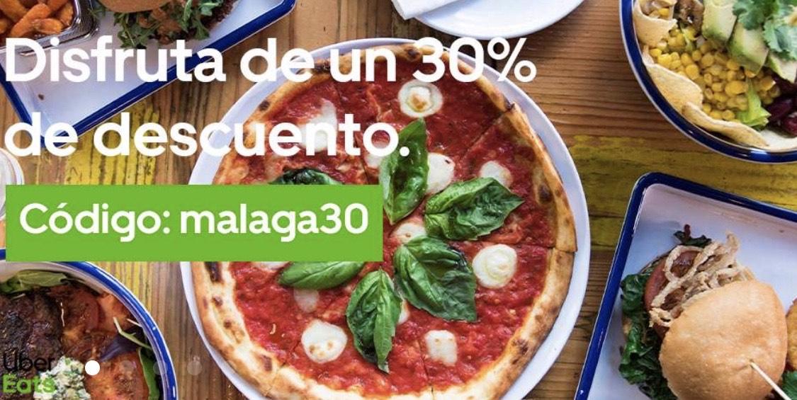 30% de descuento Uber Eats (Málaga)