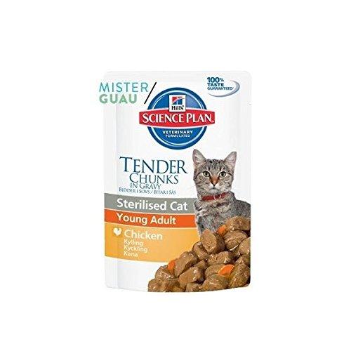 12 Bolsas de comida de gato de 85 gramos = 1000 g aprox por 1,12€