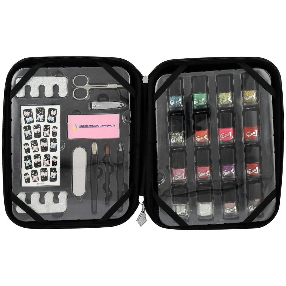 Gloss - Set De Maquillaje - SHOPA Croco Negro Belleza - 26 PiezasR 1 stock